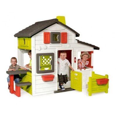 Maison Smoby Friends house. Dimensions mesure 217 x 171 x 172cm sonnette électronique fonctionne avec 2 piles LR03-AAA (non incluses)