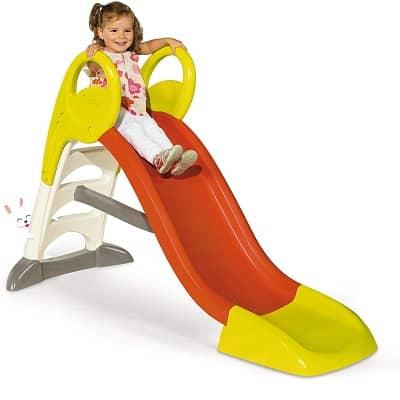 Toboggan Smoby Ks glisse de 150 cm de longueur pour les enfants de 2 ans et plus. Aire de jeux intérieur et extérieur Rouge/vert/blanc